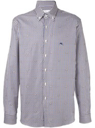 Etro Tattersall Check Shirt Blue