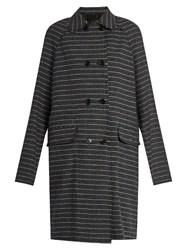 Msgm Prince Of Wales Check Raw Edged Coat Grey Multi