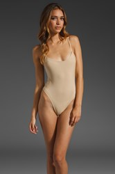 Only Hearts Club Second Skins Lowback Bodysuit Cream