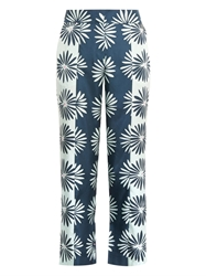 Issa Marion Daisy Print Silk Trousers