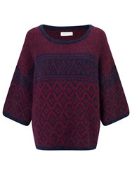 Harris Wilson Tiger Boxy Fit Jumper Marine Groseille