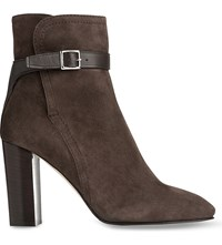 Lk Bennett Kiely Suede Ankle Boots Gry Charcoal