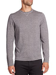 Toscano Mouline Long Sleeve Merino Wool Sweater Grey