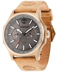 Timberland Men's Leyden Brown Leather Strap Watch 46X57mm Tbl14813jsk61