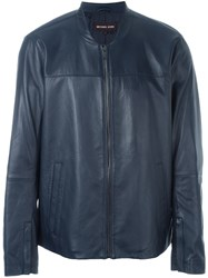 Michael Kors Zipped Jacket Blue