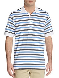 Callaway Regis Striped Polo Shirt Bright White