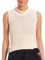Brochu Walker Textured Low Roll Neck Tank Top Antique White