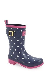 Joules Women's 'Molly' Rain Boot Navy Spot