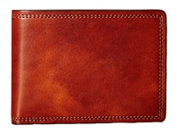 Bosca Dolce Collection Small Bifold Wallet Amber Bi Fold Wallet Bronze