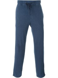 James Perse Drawstring Track Pants Blue