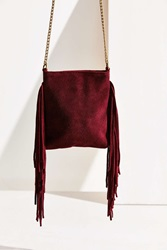 Ecote Suede Chain Mini Crossbody Bag Red