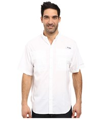 Columbia Tamiami Ii S S White Men's Short Sleeve Button Up