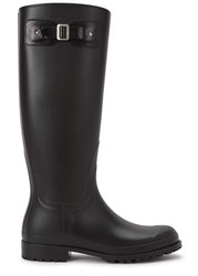 Saint Laurent Black Wellington Boots