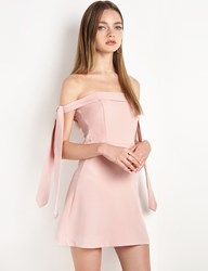 Pixie Market Blush Anika Arm Sleeve Tie Ots Dress By New Revival