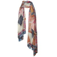 Fat Face Geo Patchwork Scarf Multi