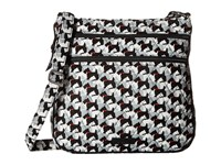 Vera Bradley Triple Zip Hipster Scottie Dogs Cross Body Handbags Black
