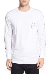 Barney Cools Graphic Long Sleeve Crewneck T Shirt White
