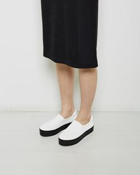 Opening Ceremony Slip On Platform Sneaker White
