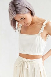 Kimchi And Blue Kimchi Blue Kendall Cropped Top Ivory