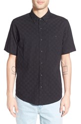 Men's Ezekiel 'Check It' Regular Fit Print Short Sleeve Woven Shirt