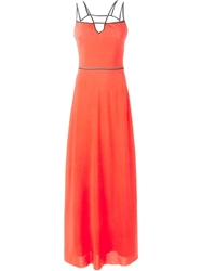 Viktor And Rolf Backless Strappy Gown Yellow And Orange