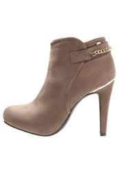 Xti High Heeled Ankle Boots Taupe