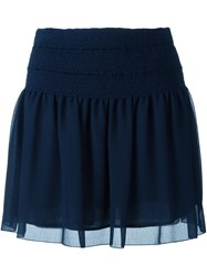 See By Chloe Smocked Waist Skirt Blue