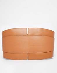 Asos Wide Waist Belt Tan