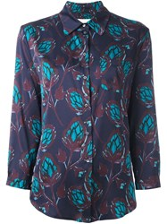 L'autre Chose Floral Print Shirt Pink And Purple