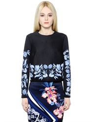 Clover Canyon Embossed Printed Neoprene Sweatshirt
