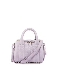 Alexander Wang Mini Rockie Pebbled Leather Satchel Bag Lavender