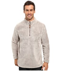 True Grit Pebble Pile 1 4 Zip Pullover Faded Heather Men's Long Sleeve Pullover Blue