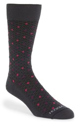 Men's Hook Albert Houndstooth And Polka Dot Socks Purple Purpleberry