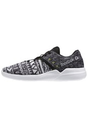 Reebok Cardio Edge Low Sports Shoes Grapic Black Skull Grey