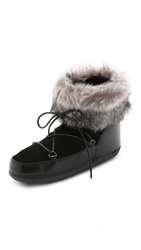 Anniel Winter Hiker Booties With Faux Fur Nero