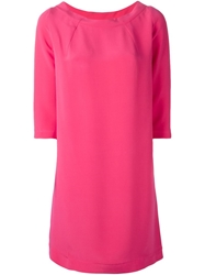 Gianluca Capannolo Three Quarter Sleeve Shift Dress Pink And Purple