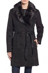 Women's Steve Madden Belted Faux Shearling Coat