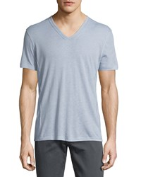 John Varvatos Wisteria Short Sleeve V Neck T Shirt Purple Men's
