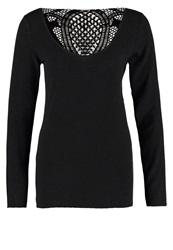 Naf Naf Obrendana Long Sleeved Top Noir Black