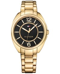 Tommy Hilfiger Women's Sophisticated Sport Gold Tone Stainless Steel Bracelet Watch 38Mm 1781695 Gold And Black
