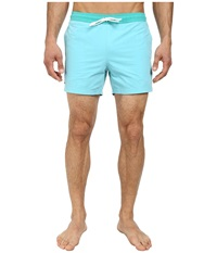 Lacoste Poplin Color Block Waist Swim Short 5 Corsica Aqua Diabolo Green Men's Swimwear Blue