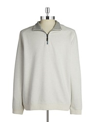 Tommy Bahama Reversible Zip Up Pullover White