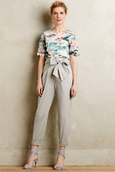 Cartonnier Bowtied Paperbag Cropped Trousers Grey