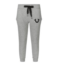 True Religion Raw Edged Tapered Sweatpants Female Light Grey