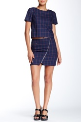 Romeo And Juliet Couture Plaid Mini Skirt Blue