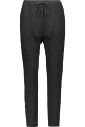 Oak Cotton Blend Terry Slim Leg Pants Black