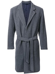 Monkey Time Belted Single Breasted Coat Grey