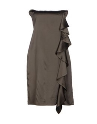 Lorna Bose' Short Dresses Military Green