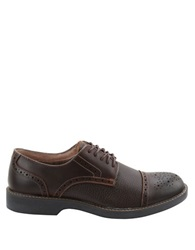 Bass Perkins Leather Cap Toe Brogue Oxfords Brown