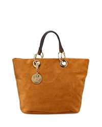 Summer Suede Tote Bag Warm Sand See By Chloe
